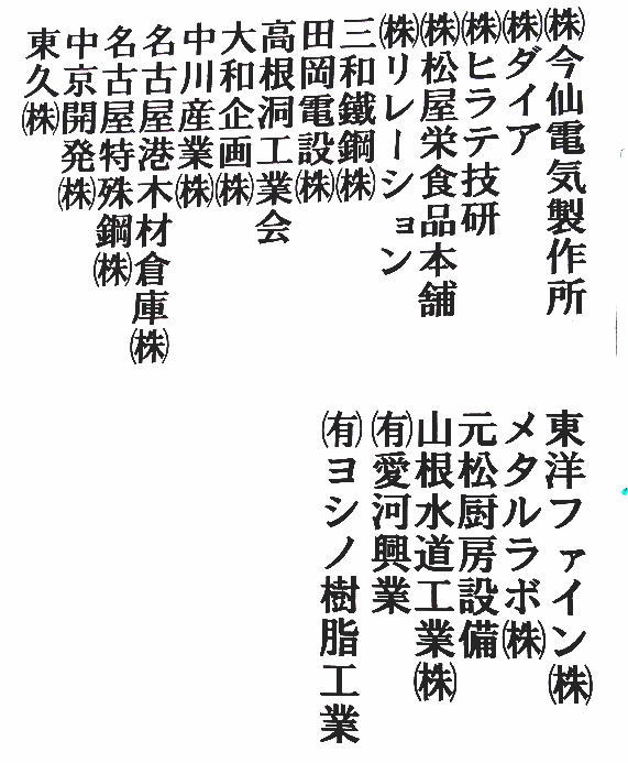 夏まつり協賛芳名1-2